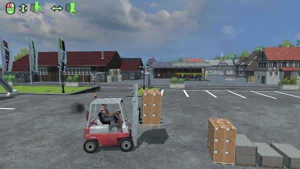 Linde forklift and the load