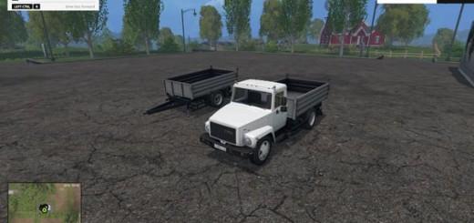 SAZ GAZ 35071 and Trailer SAZ 83173