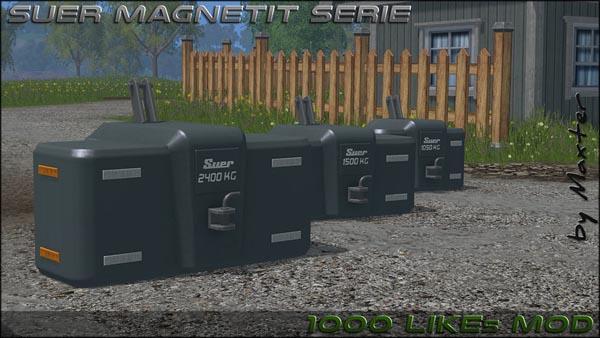 Suer magnetite weights