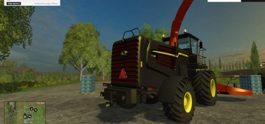 John Deere 7180 v Kemper Black Red Edition