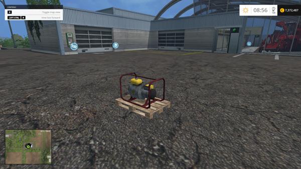 Pallete with generator