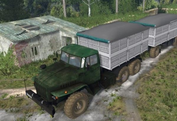 4320 Ural and trailers