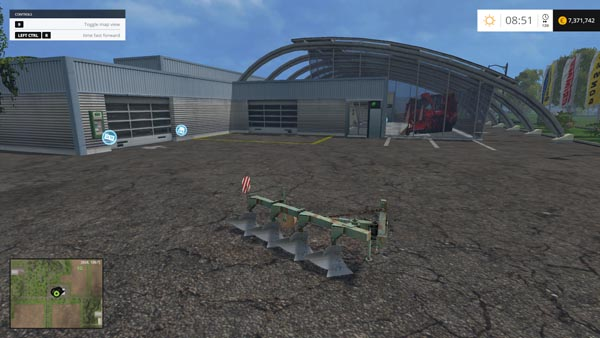 Agrozet 4 Schar plow