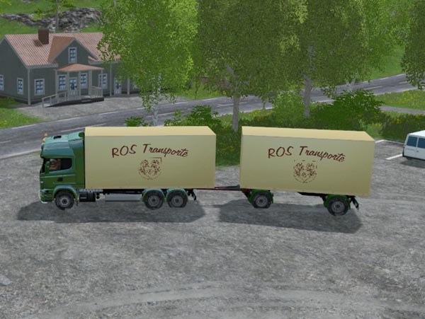 ROS Truck Scania and Trailer