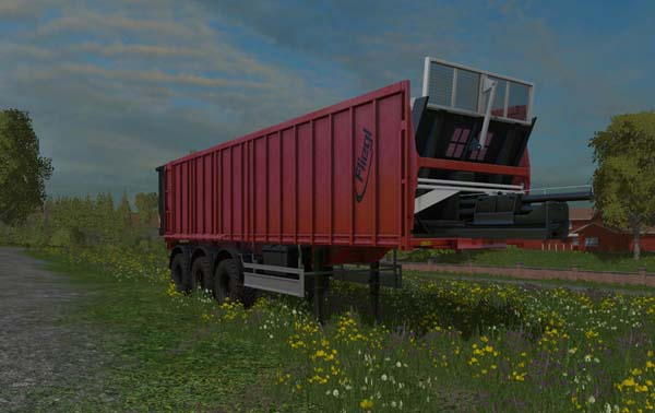 Fliegl tridem trailer