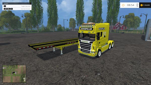 Scania Longline and US Flatbed Trailer Cat Edition