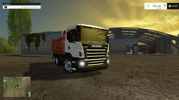 Scania tipper